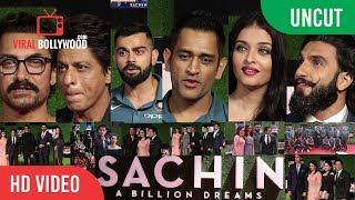 UNCUT - Sachin A Billion Dreams Grand Premiere | Shahrukh, Aamir, Ranveer, Virat, Dhoni, Aishwarya