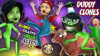 It's a SCARY GREEN BALDI GRANNY GRANDPA CLONE ALIEN, WHAT??? 👽  Weird FGTeeV Farmer Game Continues