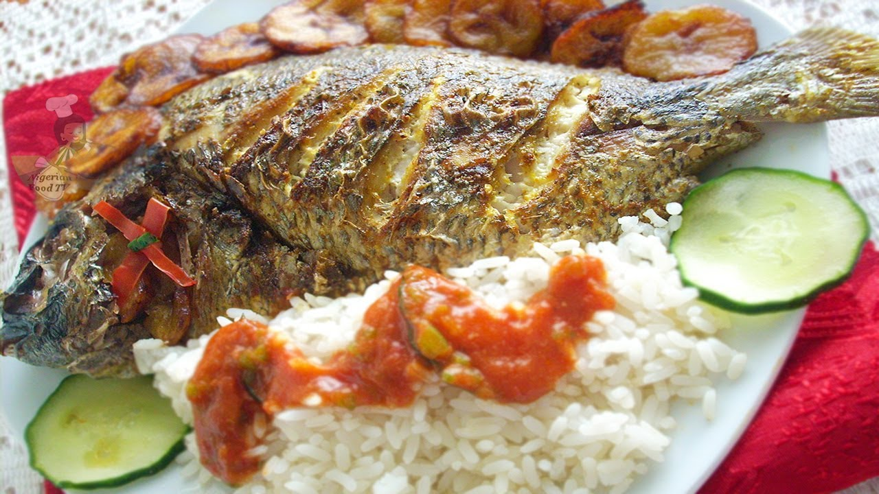 Grilled Fish (grilled tilapia fish) | Nigerian food recipes - YouTube