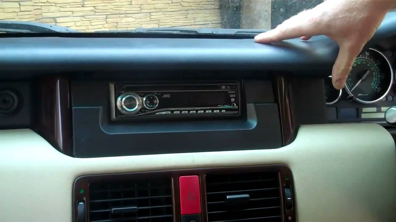 How To Fit Single Din Stereo In Range Rover L322 Hse Youtube