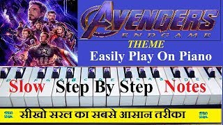 Avengers Endgame Theme Song Piano Tutorial Step By Step With Notations
