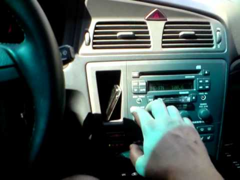 Volvo S60/V70 AUX IN for mp3 player - YouTube
