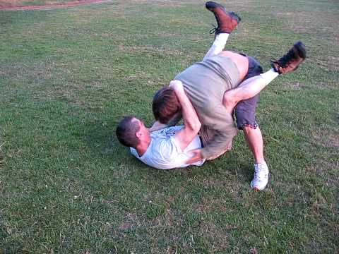 Gary fights Some Guy in Douglas Park showing basic Budoshinn Jujutsu techniques Image 1