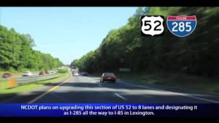 US 52 Winston-Salem, NC (Exits 123 to 110B)