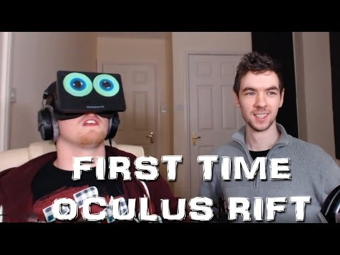 My Friend Tries Oculus Rift for First Time!