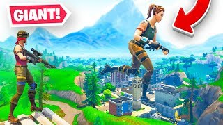 GIANT PLAYERS (1000x LARGER) Glitch In Fortnite!