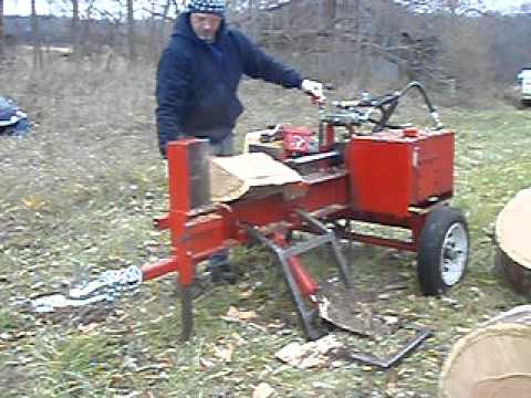 Homemade Wood Splitter Youtube