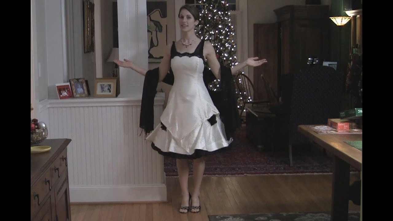 Turn Your Wedding Dress Into A Cocktail Dress Youtube
