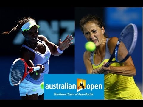 Bojana Jovanovski vs Sloane Stephens Australian Open 2013 Highlights