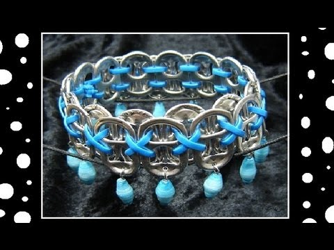 ►How To Make Recycled Pop Tab Jewelry - Craft Tutorial 13    (Soda Tab Bracelet Tutorial)