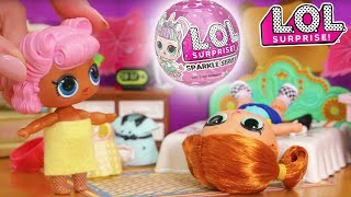 LOL Surprise Dolls Morning Routine and Cake Shop Grand Opening with Lil Sisters, Boys and Unboxings