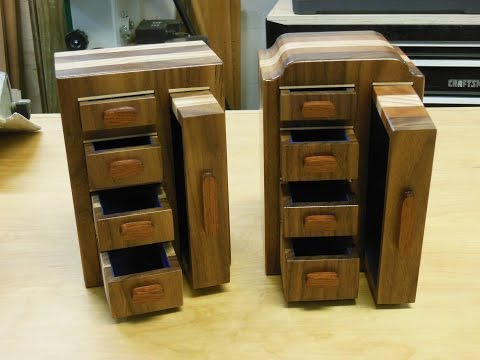 How to: Band saw box w/square drawers and flocking.