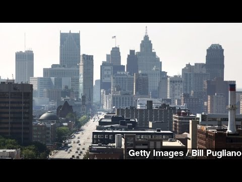 Downtown Detroit Slowly Regaining Power After Major...