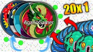 Agar.io 20x1 - INSANE SMALL VS GIANTS 103186 ULTRA HIGHSCORE SOLO (Agario)