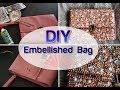BLING MY BAG DIY Pearl Diamond Embellished wedding Clutch Purse Tumblr Crafts