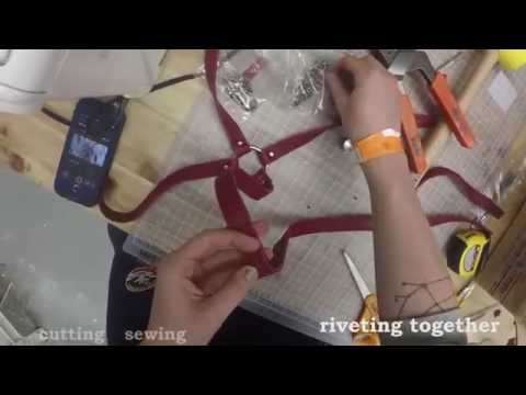 how to make a leather chest harness