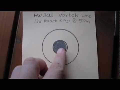 Weihrauch HW30S Vortek PG2 tuning kit. accuracy test from 50 meters