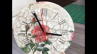 Reloj de pared con decoupage - 10/05/16