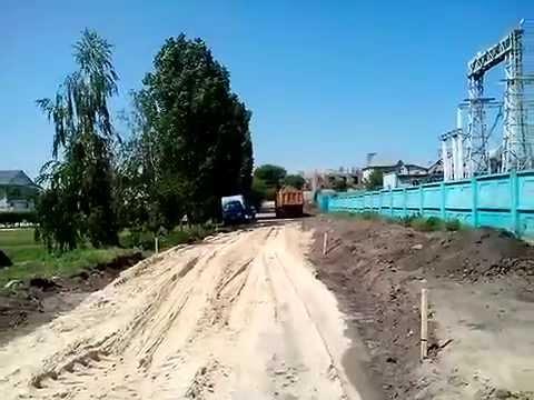 Строительство дороги на Тверской. Воронеж.