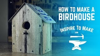 How to make a Bird House - simple woodworking project. Pallet wood.