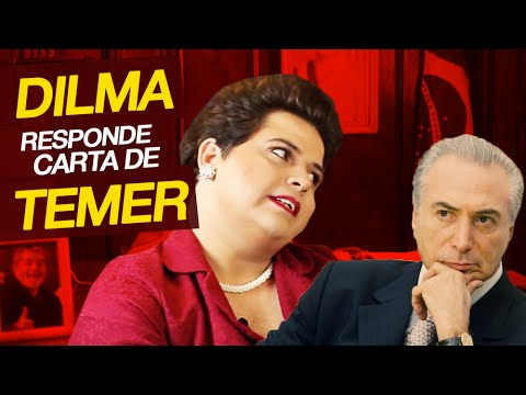 Dilma responde a Michel Temer.