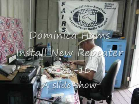 Caribbean Island of Dominica New Amateur Radio Repeater Ham