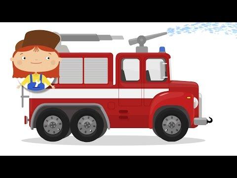 Doctor McWheelie. Fire truck cartoon
