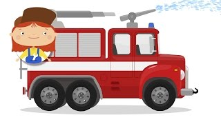 Doctor McWheelie. Fire truck cartoon