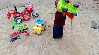 My Kiddy: Kids playing car toys on beach at home | Kids play toys