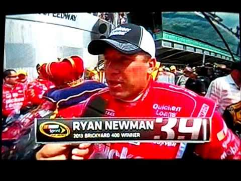 2013 Crown Royal Presents the Samuel Deeds 400 - VICTORY LANE RYAN NEWMAN