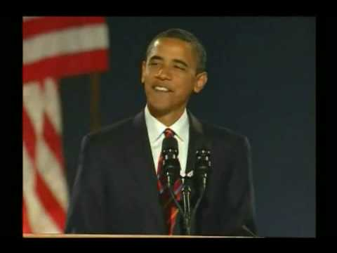 Barack Obama Grant Park Nov 4th Victory Speech Part 1