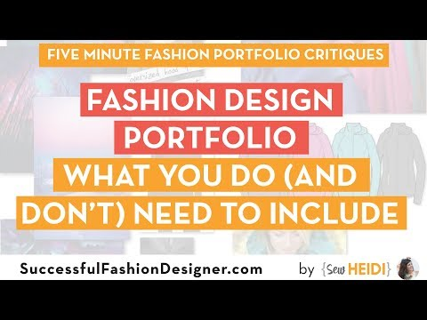 Fashion Design Portfolio: What You Do (and Don't) Need to Include