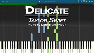 Download Lagu Taylor Swift - Delicate (Piano Cover) by LittleTranscriber Gratis STAFABAND