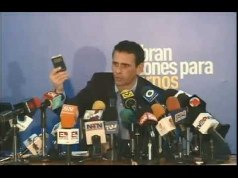Henrique Capriles rueda de prensa sobre Crísis en Vzla 14-01-15