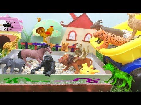 Tiere lernen für kleinkinder deutsch mit auto spielzeug tiere - Tiergeräusche für kleinkinder