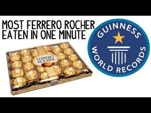Most Ferrero Rocher Chocolates Eaten in One Minute (9 Pieces) - Guinness World Record | Furious Pete