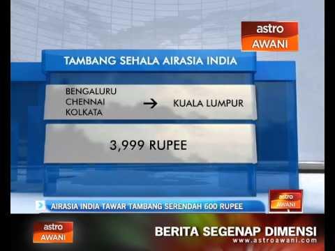 AirAsia India tawar tambang serendah 600 Rupee