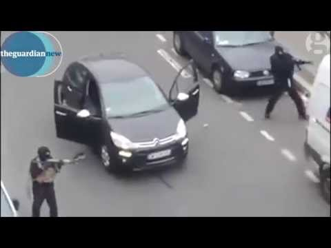 Paris shooting: Gunmen filmed shooting Paris police officer in Charlie Hebdo attack