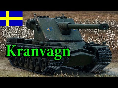 Kranvagn - Лучший Шведский тяж 10 лвл на карте Эль-Халлуф -  9 000 урона!