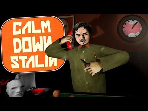 Мэддисон успокаивает Сталина в  игре Calm Down, Stalin