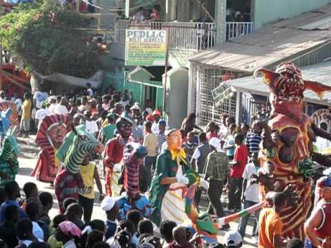 Jacmel Carnival 2011 Antelope And Zebras