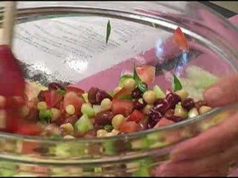 Bean Salad Recipe - A Fresh, Healthy and Spicy Bean recipe