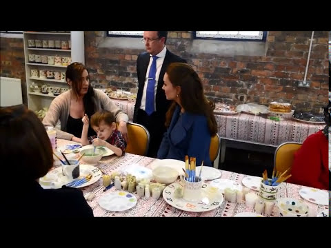 Kate Middleton visits Stoke-on-Trent