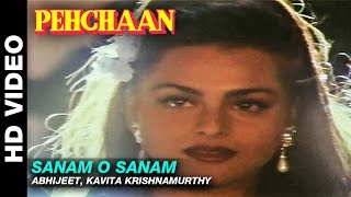 Sanam O Sanam - Pehchaan | Abhijeet, Kavita Krishnamurthy | Saif Ali Khan & Madhoo