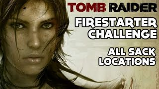 Tomb Raider - Firestarter Challenge (All Sack Locations - Geothermal Caverns)