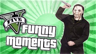 GTA 5 Funny Moments: Michael Myers Maze Game! (GTA V Online)
