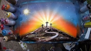 Under the cross - SPRAY PAINT ART by Skech