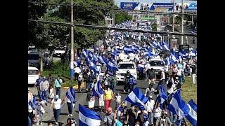 Marcha por los presos políticos de Nicaragua