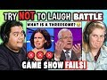 Try to Watch This Without Laughing or Grinning Battle: GAME SHOW FAILS | FBE Staff Reacts