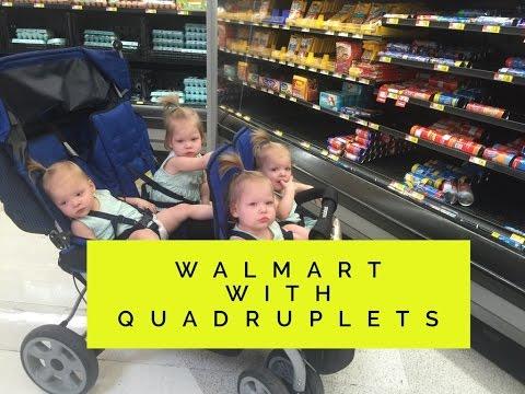 WALMART WITH QUADRUPLETS